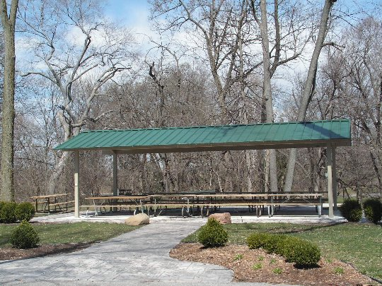 Covered Park Shelters : Covered shelters and picnic areas