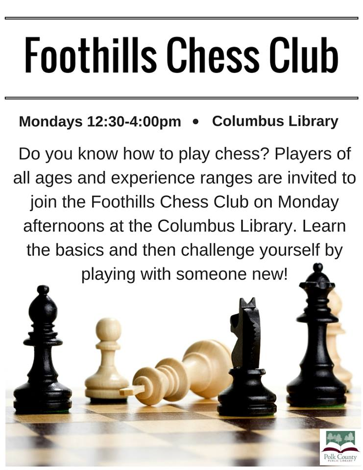 foothills chess club