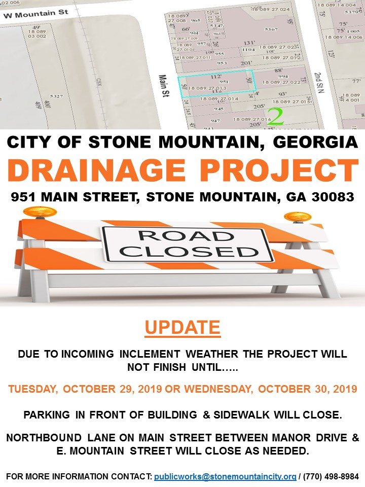 Drainage Project 951 Main St Update