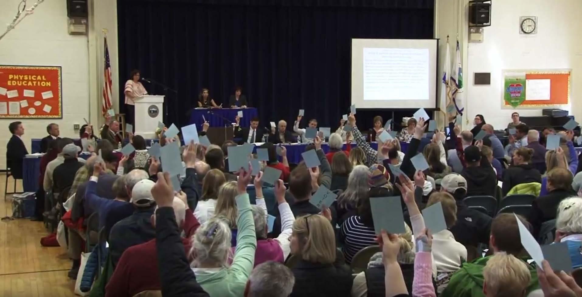 Town Meeting vote